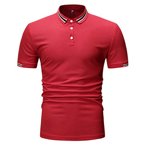 - Lookatool T Shirts Polo Tops Blouse Men's Dry Fit Long Sleeve Polo Golf Shirt Cotton T Shirts Men's Casual Slim Fit Short Sleeve Henley T-Shirts XS Red