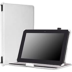 """MoKo Case for Amazon All-New Kindle Fire HDX 8.9"""" - Slim-Fit Multi-angle Stand Cover Case for Kindle Fire HDX 8.9 Inch 2014 Generation and 2013 Gen Tablet, WHITE"""