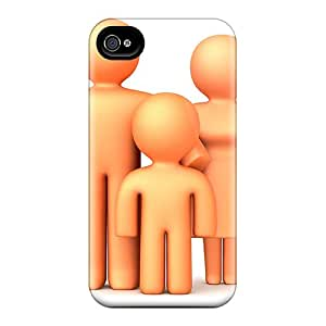 New Fashionable HHaroldshon IWFhCUL5846sKEus Cover Case Specially Made For Iphone 4/4s(parents And Son)