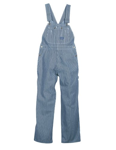 Big Smith Clothing (Walls Men's Big Smith Hickory Stripe Bib Overall, Hickory Stripe, 38/30)