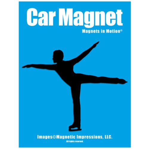 Figure Skater Male Car Magnet Black