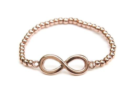 Infinity Beaded Stretch Bracelet - Infinity Beaded Stretch Bracelet (Plain Rose Gold Infinity)