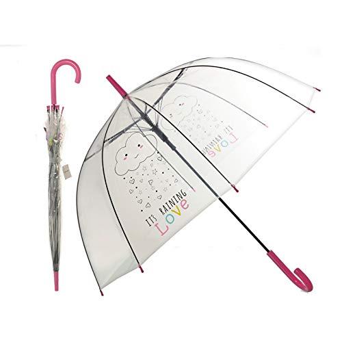 Hogar y Mas Paraguas Burbuja Transparente Original con Frase motivadora 85 X 80 CM: Amazon.es: Hogar