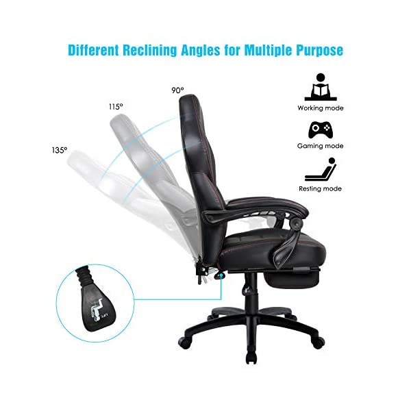 IntimaTe WM Heart Chaise Gaming, Racing Chaise de Bureau Ergonomique, avec Repose-Pied Rembourré, Dossier Inclinable