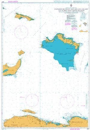 Ba Chart 3907  Passagen Between mayaguana Island and Turks & Caicosinseln IS inc Northern Apps to Haiti & The Dominican REP by United Kingdom Hydrographic Office