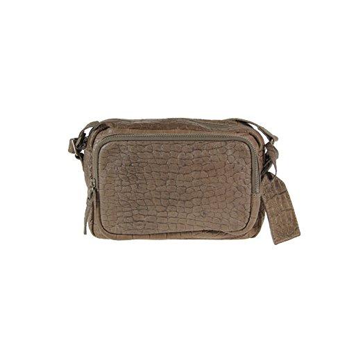Cowboysbag Amsterdam sac bandoulière en cuir d'épaule Mossoro reptiles design gris