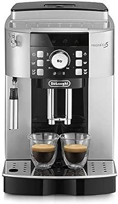 DeLonghi ECAM 21.117.SB Máquina espresso, 1450 W, 1.8 litros, plástico, Plateado/Negro