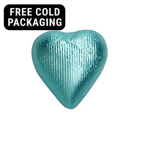 e Solid Milk Chocolate Foiled Hearts 2lb (Free Cold Packaging) (Foiled Chocolate Hearts)