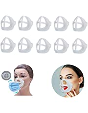 Jolik 10PCS Mask Brackets for Increasing Breath Space, 3D Bracket Lipstick Protection Cool Mask Bracket for Summer for Running for Kids fo Adult