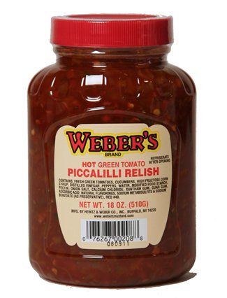 Weber's Hot Green Tomato Piccalli Relish - 18 oz - Hot Green Tomato