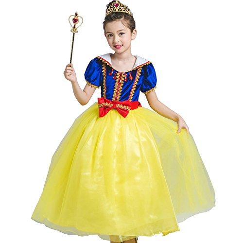 Snow White Toddler Dress (Fanryn Little Girl's Snow White Princess Party Dress Costume children formal skirt)
