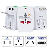 World Wide International Electrical Power Travel Charger Adapter Plug, Converter Adaptor for European American Australia Germany France Ireland England Italy Spain India South Africa & more (write)