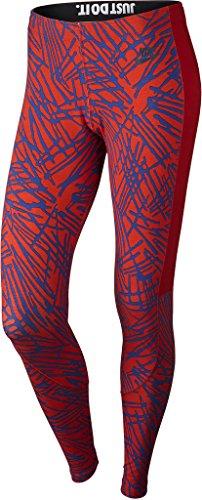 Nike Womens Leg-A-See Printed Tights University Red/Royal Blue 739967-657 Size Medium