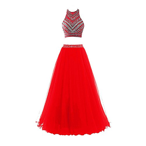2 Piece Beaded Evening Gown - 9