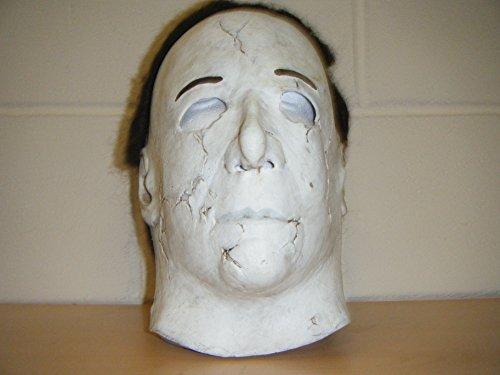 WRESTLING MASKS UK Michael Myers Battle Scar Face Deluxe Latex Halloween Full Head Costume Scary Mask -