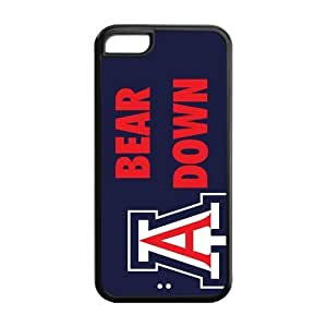 Customize NCAA Basketball Team Arizona Wildcats Back Cover Case for iphone 5C