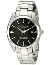 Stuhrling Original Men's 414.33111 Aquadiver Regatta Prime Swiss Quartz Date Black Dial Bracelet Watch