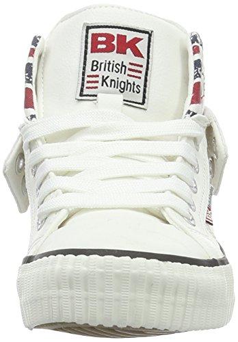 British Knights Unisex Kids' Roco Hi-Top Trainers, Blanc/Union Jack, 10.5 Child UK Blanc (White/Union Jack)