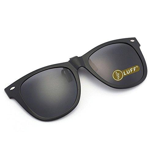 Polarization Clip-On Sunglasses Unisex-Elegant&Comfortable Clips Flip up Myopic...