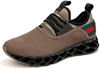 LXJL Baskets pour Hommes Casual Baskets légères Running Sneakers Fitness,Brown,40
