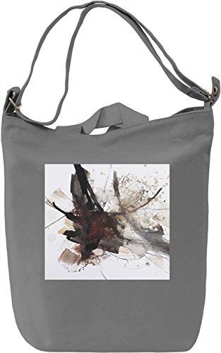 Watercolor Full Print no. 12 Borsa Giornaliera Canvas Canvas Day Bag| 100% Premium Cotton Canvas| DTG Printing|