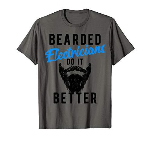 Halloween Ideas For Bearded Guys (Bearded Electricians Do It Better T-Shirt - Funny Job)