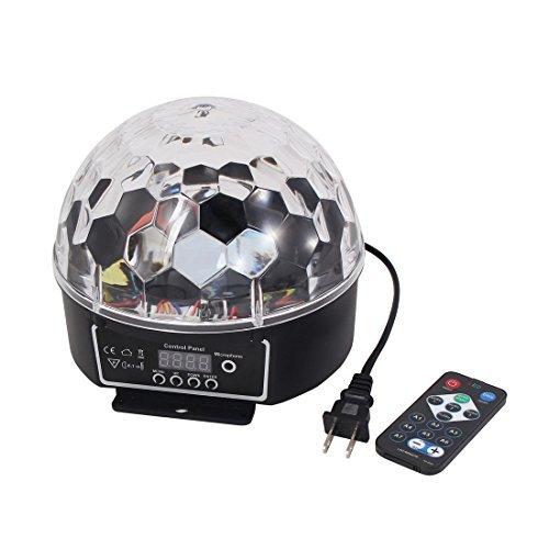 Magic Ball LED di cristallo eDealMax AC 100V-240V della spina della discoteca del DJ di illuminazione della fase di RGB Effetto luce DMX512 della lampada digitale w Remote Controller