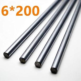 Ochoos Barra de impresora 3D 6 mm eje lineal 200 mm chapado en ...