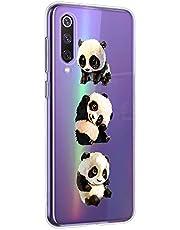 Suhctup Funda Compatible para Mi 9 Pro/Mi 9 Pro 5G,Carcasa Transparente Dibujos Animal Suave Silicona TPU Gel Bumper Ultra Pulgada Antigolpes Crystal Clear Protector Piel Case Cover,Panda 1