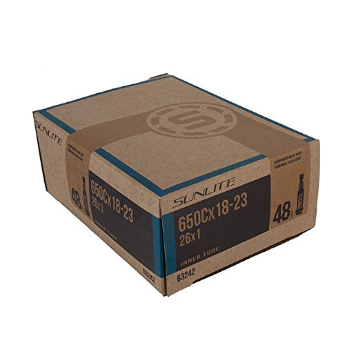 Sunlite Standard Presta Valve Tubes, 650c x 18-23 (26 x 1) / 48mm, Black