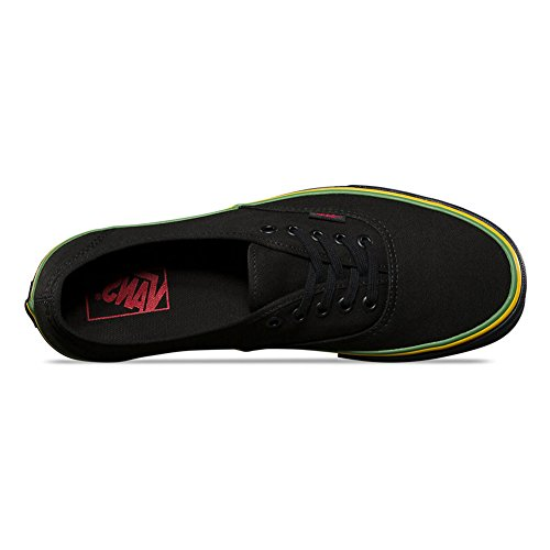 Vans Authentic Skate Schuhe - (Rasta) Schwarz / Schwarz (Rasta) Schwarz / Schwarz