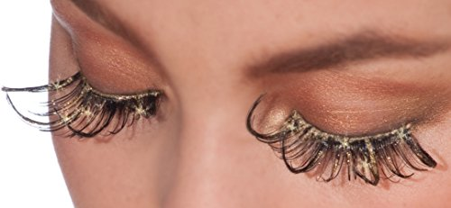 Steampunk Makeup (Steampunk Gold Glitter Lashes)