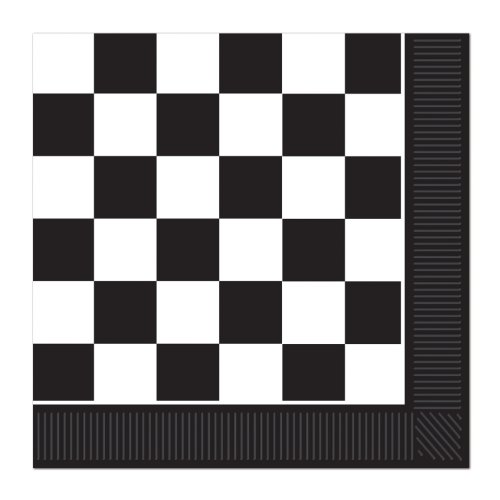 Checkered Luncheon Napkins (2-Ply)    (16/Pkg) (Paper Nascar)