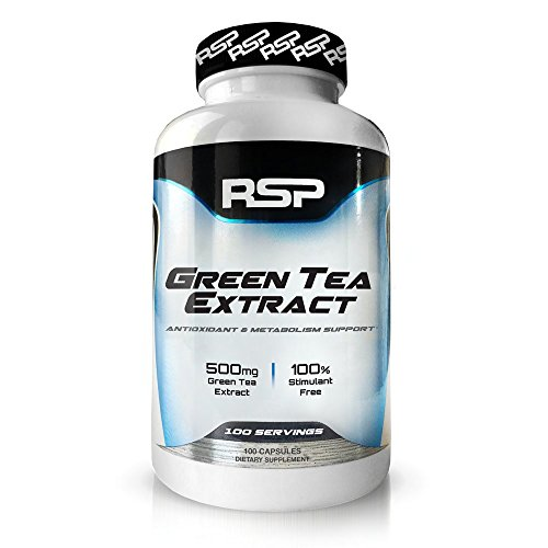 RSP Green Tea Extract with EGCG, Weight Loss Supplement for Men and Women, Antioxidant & Metabolism Support, Cellular Health, Stimulant Free Energy, 100 capsules For Sale