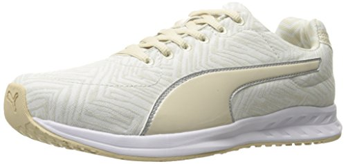 PUMA Women's Burst Chevron WN's Cross-Trainer Shoe, Oatmeal White, 9.5 M (Chevron Cross)