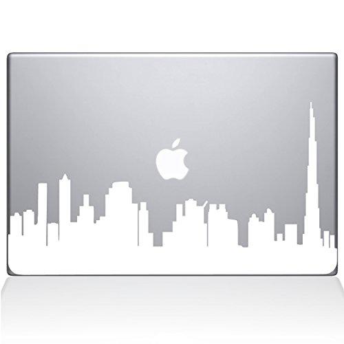 The Decal Guru 2302-MAC-13A-W Dubai City Skyline Decal Vinyl Sticker, White, 13