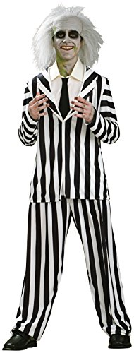 [Rubie's Costume Co Men's Beetlejuice Costume, Multi, Teen] (Beetle Juice Wig)