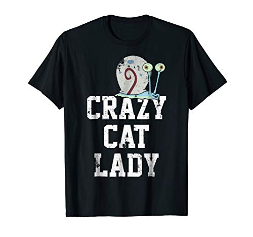 (SpongeBob SquarePants Gary Crazy Cat Lady Graphic T-Shirt)