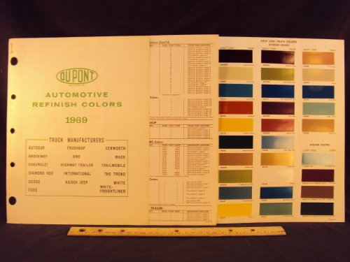 1969 FORD Truck, AUTOCAR, BROCKWAY, CHEVROLET, DIAMON REO, DODGE, FRUEHAUF, GMC, HIGHWAY TRAILER, INTERNATIONAL, KAISER JEEP, KENWOTH, MACK, TRAILMOBILE, THE TREND, WHITE FREIGHTLINER Trucks Paint Colors Chip Page