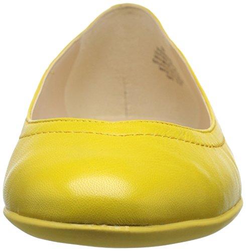 Nine West Zarong Ballet de cuero plano Yellow