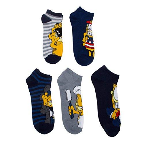 - Garfield Men's and Big Boys 5 Pack (pairs) No Show Socks