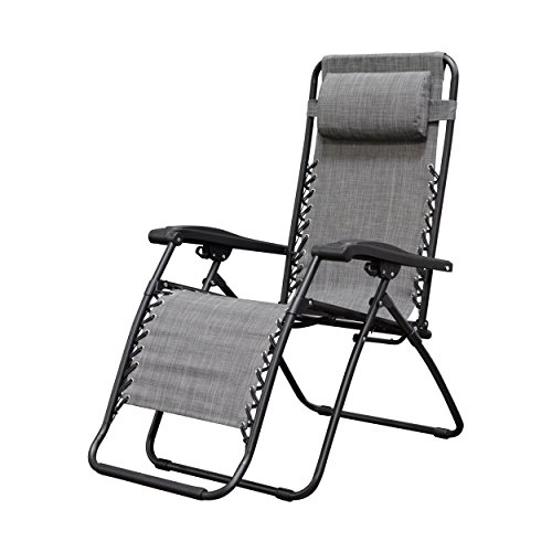 Caravan Sports Infinity Zero Gravity Chair, Grey - Ostrich Folding Chaise
