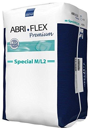 Abena Abri-Flex Special Protective Underwear, M/L2, 108 Count (6 Packs of 18)
