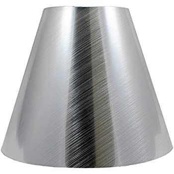 Urbanest 3x6x5 metal chandelier lamp shade nickel amazon urbanest metallic hardback chandelier lamp shade 3 inch by 6 inch by 5 aloadofball Image collections