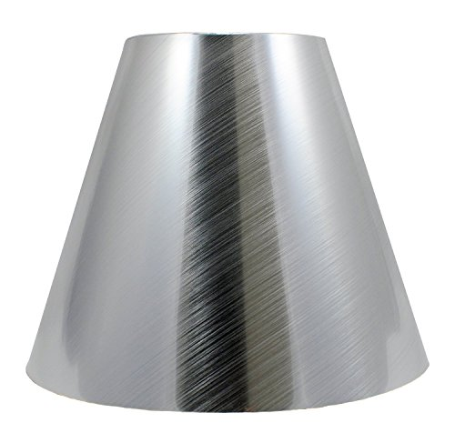 Urbanest Metallic Hardback Chandelier Lamp Shade, 3-inch by 6-inch by 5-inch, Clip-on, Silver