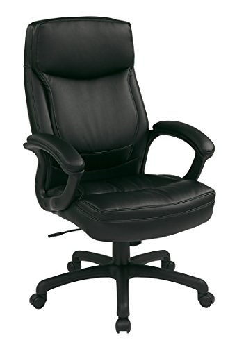 Executive Eco Leather Chair with Color Match Stitching Black