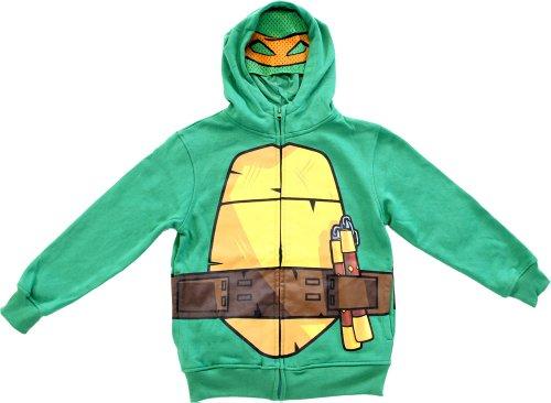 TMNT Teenage Mutant Ninja Turtles Boys Green Costume Hoodie Sweatshirt (Toddler 3T)