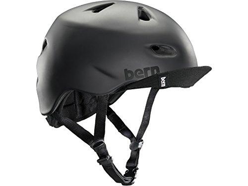 Bern Unlimited Brentwood Summer Helmet with Flip Visor, Matte Black, XX-Large/3X-Large ()