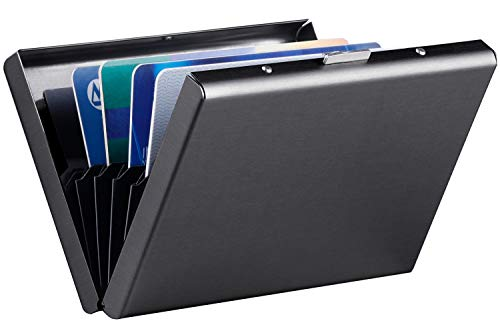 RFID Credit Card Holder Protector Stainless Steel Credit Card Wallet Slim RFID Metal Credit Card Case for Women or Men (Office Cascade Set)