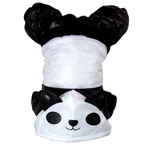 SMALLLEE_LUCKY_STORE XY000153-S Small Dog Panda Hoodie Costume, White, Small -